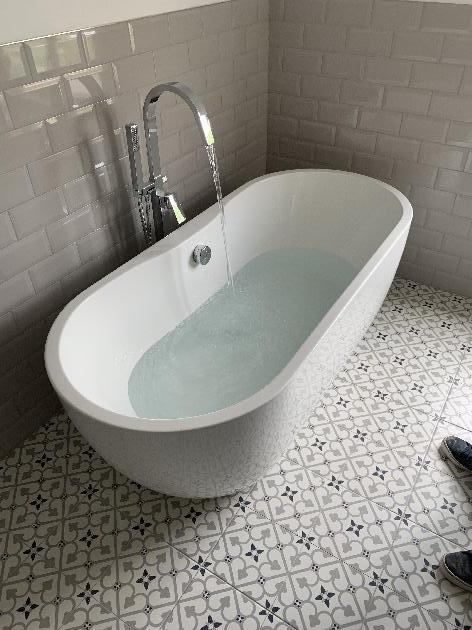 New luxury stand alone bath installed by our team